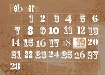Calendarios artistico con pinturas acuareladas